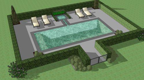 Tuinaanleg met zwembad door lc dv in sint pieters leeuw - Ontwikkeling rond het zwembad ...